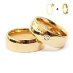 Combo Gaya 8mm ♥ Casamento E Noivado Tungstênio