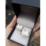 Alianças Coroa ♥ Namoro e Compromisso em Prata 0,950