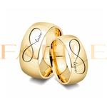 Alianças Gaya 10mm Infinito Love ♥ Casamento E Noivado Tungstênio