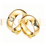 Alianças Gaya 8mm Homem de ferro e Mulher maravilha ♥ Casamento E Noivado Tungstênio