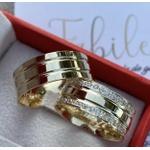 Alianças Kentucky ♥ Casamento e Noivado em Ouro 18K