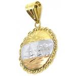 Pingente De Ouro 18k Escravas Tricolor De 25mm