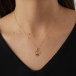 Pingente De Ouro 18k Coração Com Nossa Senhora Da Aparecida