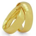 Par De Aliança Casamento De Ouro 18k Tradicional Com 6mm
