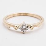 Anel De Ouro 18k Solitário Queen Com Diamante De 20 Pontos
