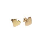 Brinco De Ouro 18k Coração Com 8,5mm