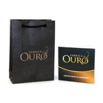 Corrente De Ouro 18k Groumet 3x1 De 2,4mm Com 65cm