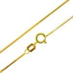 Corrente De Ouro 18k Veneziana De 1,0mm Com 60cm