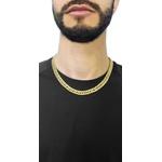 Corrente De Ouro 18k Groumet Grossa De 1,0 Centímetro Com 50cm
