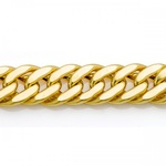 Corrente De Ouro 18k Groumet Grossa De 1,0 Centímetro Com 70cm