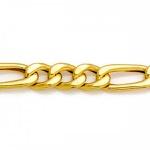 Corrente De Ouro 18k Groumet 3x1 De 4,5mm Com 60cm