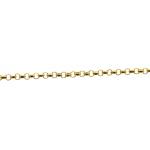 Corrente De Ouro 18k Português De 45cm Com Corações Fixos