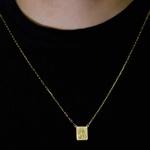 Escapulário De Ouro 18k Cartie Com 70cm