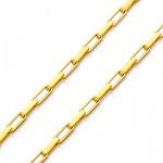 Corrente De Ouro 18k Veneziana Longa De 0,9mm Com 50cm