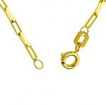 Corrente De Ouro 18k Veneziana Longa De 1,2mm Com 80cm