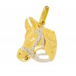 Pingente De Ouro 18k Cavalo De 16mm