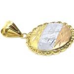Pingente De Ouro 18k Escravas Tricolor De 20mm