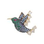 Pingente De Ouro 18k Beija-flor Voando