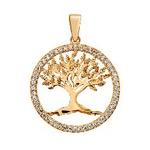Pingente De Ouro 18k Árvore Da Vida Média