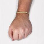 Pulseira De Ouro 18k Groumet De 5mm Com 18cm e Chapa