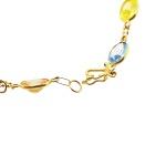 Pulseira De Ouro 18k Zircônias Ovais Com 18cm