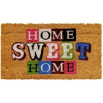 TAPETE CAPACHO 33X60CM ESTAMPADO HOME SWEET HOME