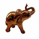 DECOR CERAMICA ELEPHANT CURVED SNOUT COBRE 18,8X10X19,3CM