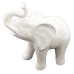 DECOR CERAMICA ELEPHANT CURVED SNOUT BR PEROLADO 18,8X10X19,3CM