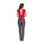 Cropped com Fenda frontal e Laço traseiro Pink