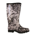 BOTA DE BORRACHA ANIMAL BC/PT FEMININA N36/37