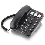 TELEFONE DE MESA PRETO COM VIVA VOZ ELGIN