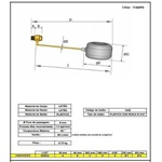 Torneira De Bóia 1.1/2 Pol Vazão Total Balão Pvc Registro De Metal