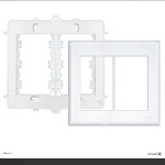 Placa 4x4 Com Suporte Para 6 Modulos Evidence Fame