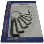 Jogo Kit De Chave Allen 6 Peças De 1,5mm a 6mm