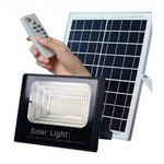 Refletor Led 25w Energia Solar c/Controle e Placa Completo