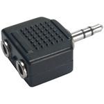 Plug Adaptador P2 Macho para 2 Saídas P2 Fêmeas