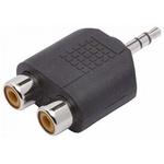 Plug Adaptador 1 P2 Macho para 2 Rca Fêmea