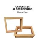 Caixonete de Madeira para Ar Condicionado Janela 36cm x 49cm