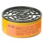 Filtro Vapores Orgânicos e Gases Ácidos RC203 Carbografite