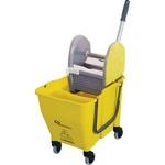 Carro Funcional Balde Espremedor Doblô amarelo NY108 Bralimpia