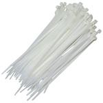 Abracadeira de nylon branca 200mm x 4,8mm 100 pcs Fertak Tools 1303