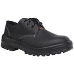 Sapato Couro Cadarço com Bico Plástico Kadesh Flex