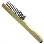 Escova manual de aço 4 fileiras cabo de madeira Rocast 319,0017
