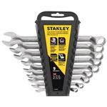 """Jogo de chave combinada de 1/4"""" a 3/4"""" aço cromo vanádio com 9 peças - Stanley STMT74751"""