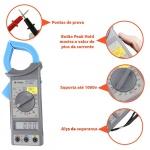 Alicate amperímetro digital - ET-3200A - Minipa