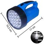 Lanterna Holofote Recarregável de LED Bivolt com 18 Leds