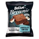 Brownie Belive Sabor Coco com Chocolate Display 10x40g