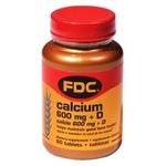 Calcium e vitamina D 60caps x 600mg