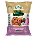 Da Fazenda Cookies Ameixa e Coco com Gotas de Chocolate Integral Zero 100g