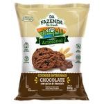 Da Fazenda Cookies Chocolate com Gotas de Chocolate Integral 100g